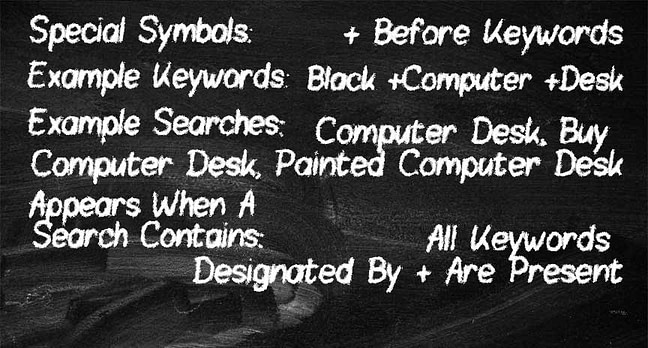 Chalkboard Modified Broad Match Keyword Match Types