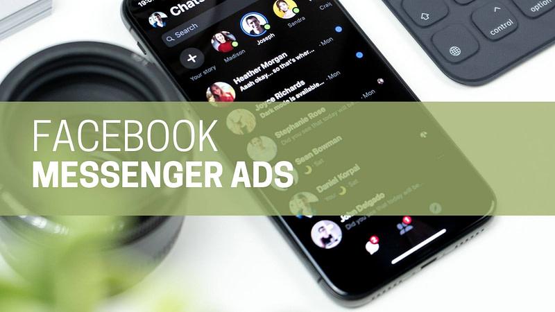 Phone showing Facebook Messenger