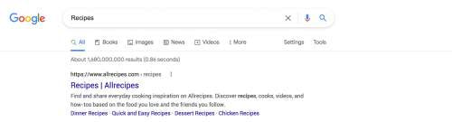 Google search results for recipes