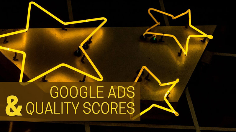 Neon stars with text Google Ads & Quality Scores