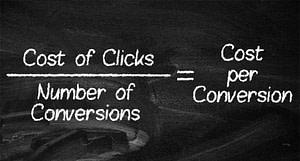 Cost per Conversion Equation for PPC Metrics
