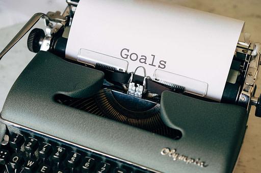 Goals on typewriter